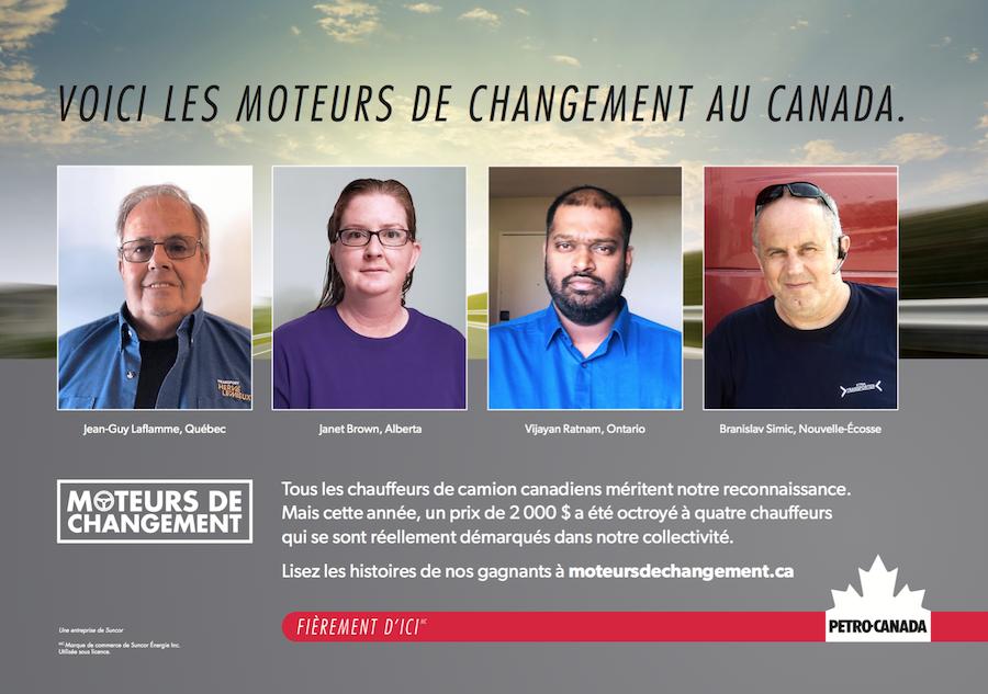 Voici les moteurs de changement au Canada