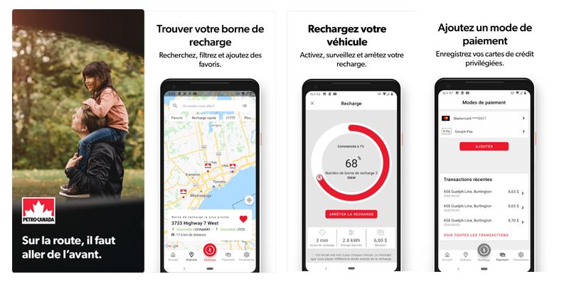 l'application mobile VÉ de Petro-Canada
